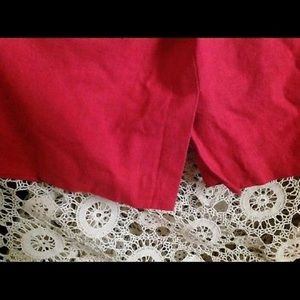 Maggie McNaughton Skirts - 22W Red Skirt Suit Mostly Cotton